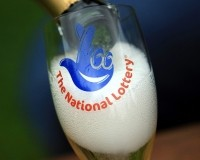National Lottery champagne glass