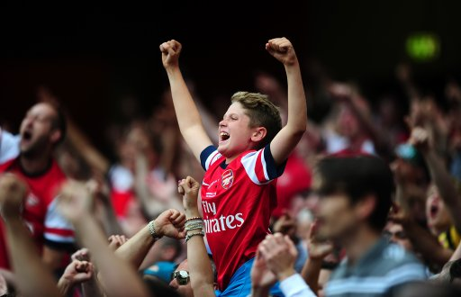 A young Arsenal fan