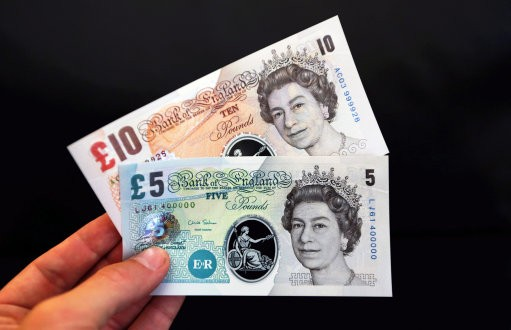 Polymer Bank of England banknotes