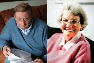 Peter Troy and his late mother