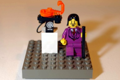 Lobster telephone in Lego
