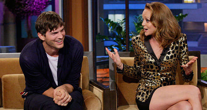 Ashton Kutcher and Jayma Mays on 'The Tonight Show'