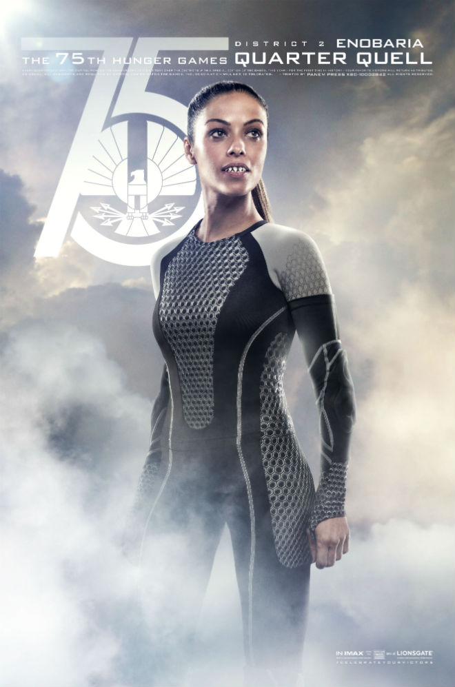 enobaria quarter quell poster catching fire