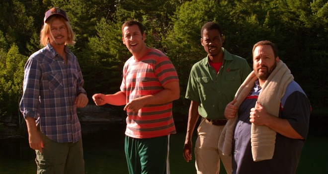 David Spade, Adam Sandler, Chris Rock, Kevin James, Grown Ups 2