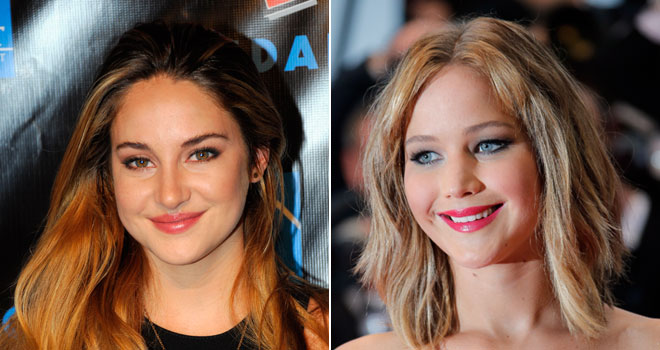 Shailene Woodley and Jennifer Lawrence