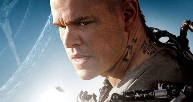 Matt Damon on 'Elysium' Poster