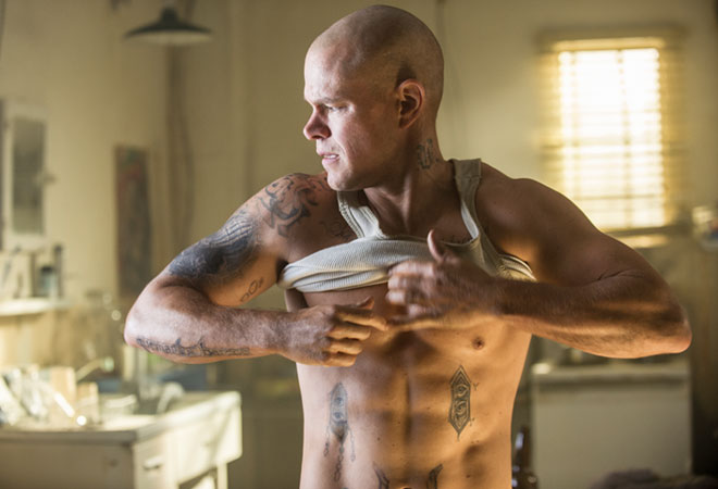 Matt Damon Shirtless in 'Elysium'