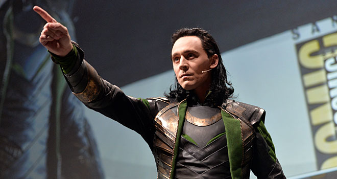Tom Hiddleston as Loki at Comic-Con 2013