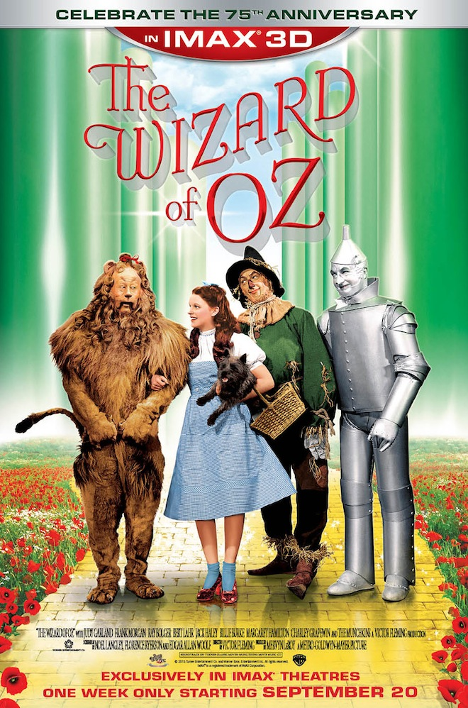 The Wizard of Oz IMAX 3D poster