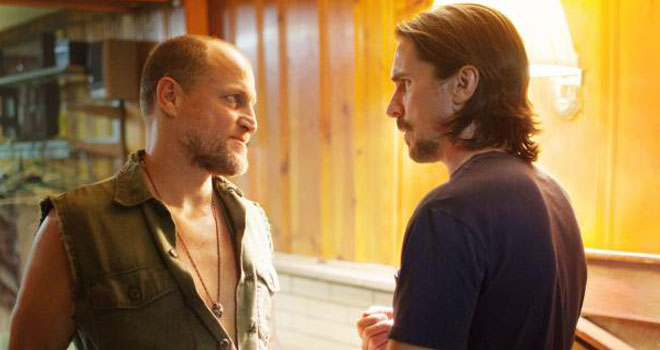 Woody Harrelson and Christian Bale in 'Out of the Furnace'