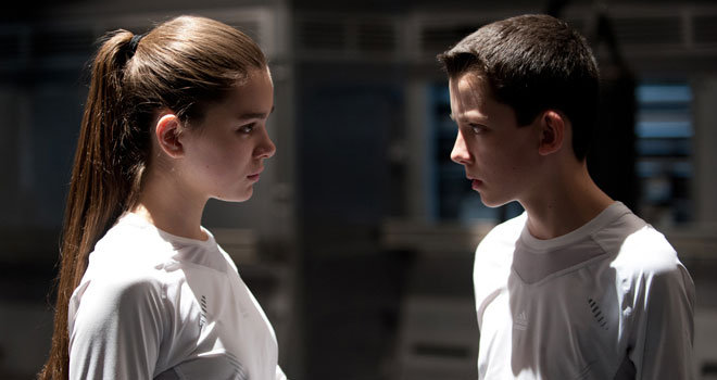Hailee Steinfeld and Asa Butterfield in 'Ender's Game'