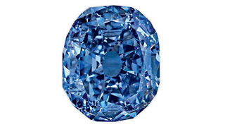 Rare Blue Diamond On Display in New York