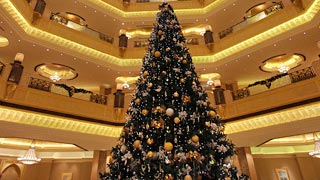 $11M Christmas Tree Debuts at Emirates Hotel