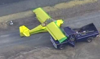 small plane crash truck north carolina