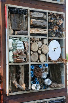 A bug hotel at the recent Chelsea Flower Show
