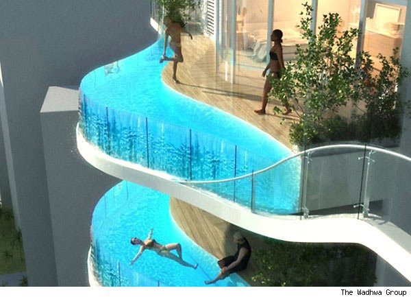 swimming pool balconies