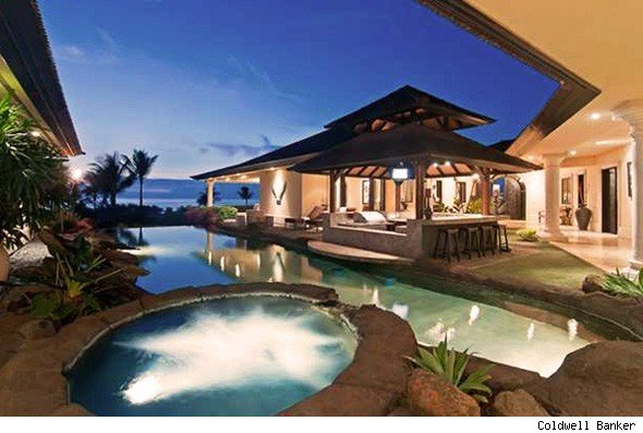 House of the day hawaiian villa with waterfall aol finance for How much to build a house in hawaii