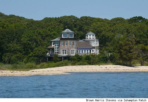 House of the Day Sag Harbor lighthouse on the bay