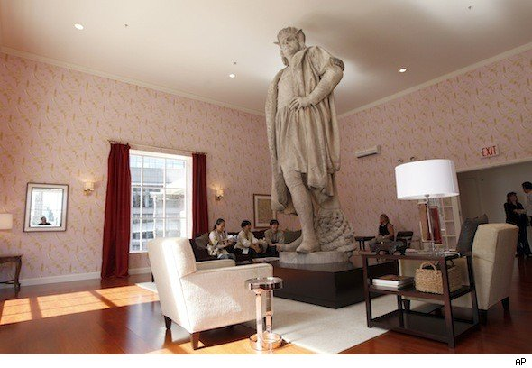 statues for living room columbus circle s iconic statue at center of living room 14987