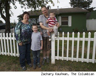 homeowners Joel and Melissa Dodge and family of Vancouver Washington