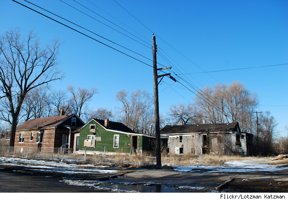 Empty homes in Gary, Ind.