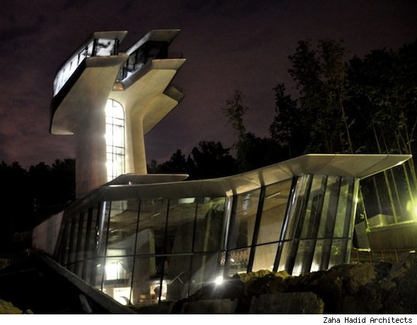 Naomi Campbell's Moscow mansion by Zaha Hadid