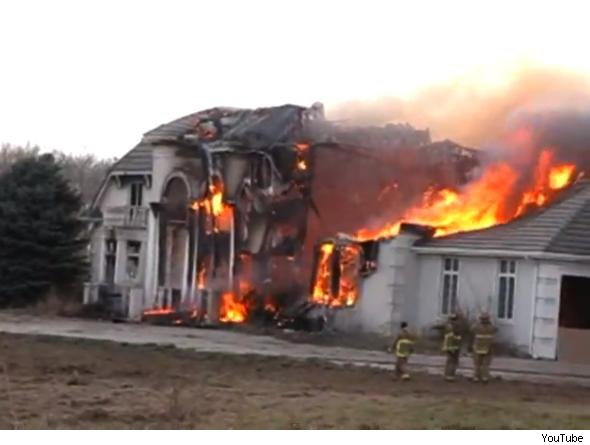 Rod Kush mansion burns.