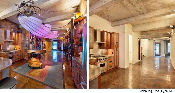 Steampunk loft, before and after