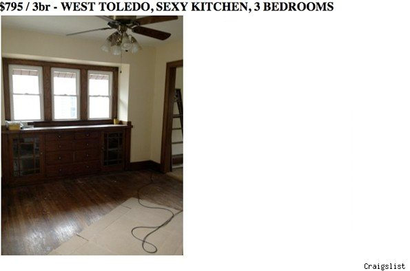 'Sexy' apartment ad shows unimpressive kitchen