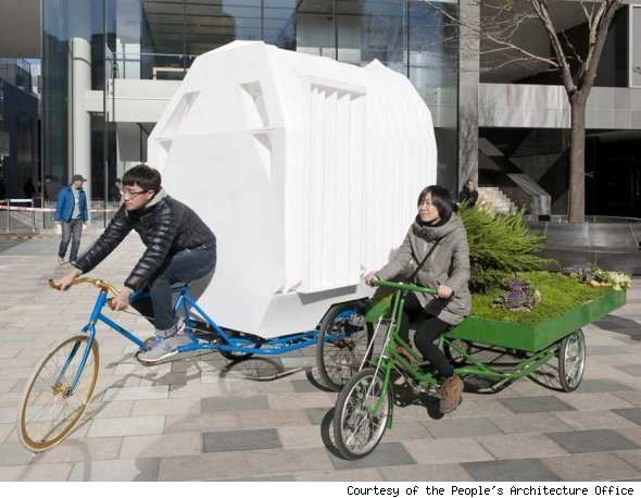 tricycle house, china