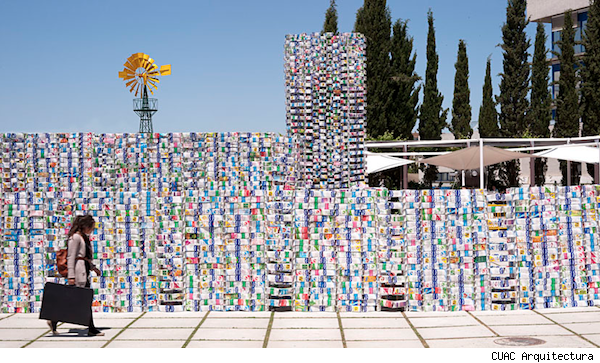 Tetrabrik Pavilion made of milk cartons.