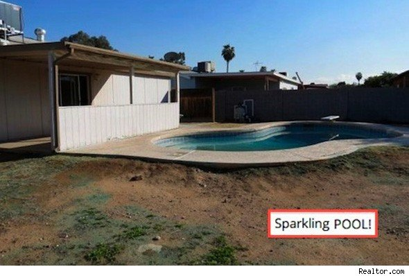 Home with 'sparkling' pool