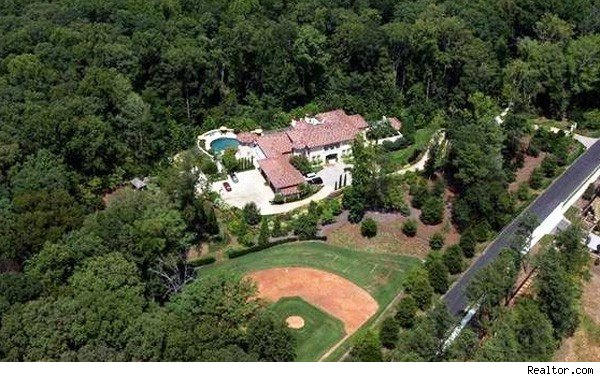 Atlanta mansion with baseball diamond