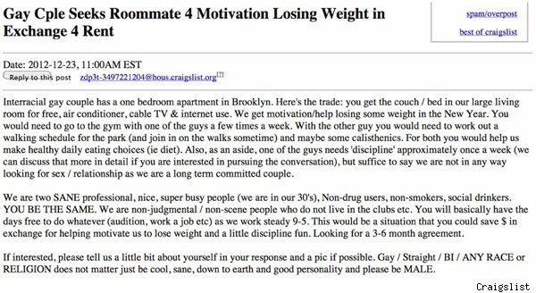 Craigslist ad for disciplinarian