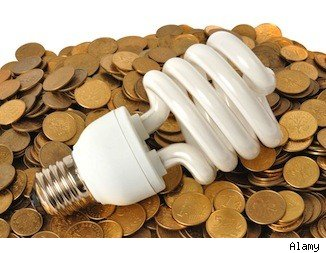 Save on home energy with fluorescent lightbulbs.