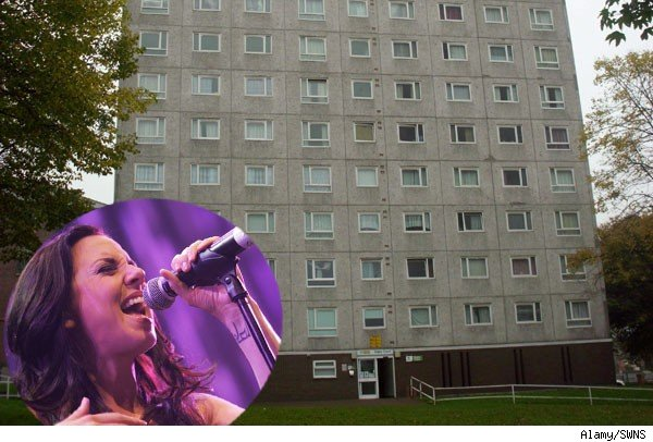 Spice Girls fan Gavin Townroe's apartment building