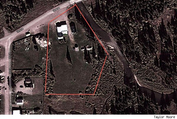 Taylor Moore property, aerial view