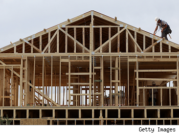 Homebuilder confidence: new house under construction