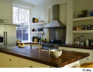 A kitchen island is a popular home feature.