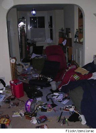 Renters insurance: ransacked home