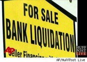 Bank foreclosure errors: Bank liquidation sign