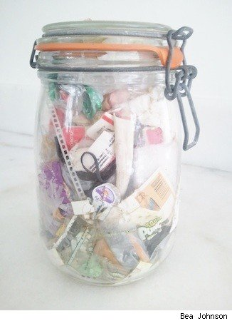 zero waste home disposables jar
