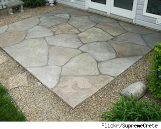 Want A Patio? Try Stamped Concrete As A Low Cost Alternative