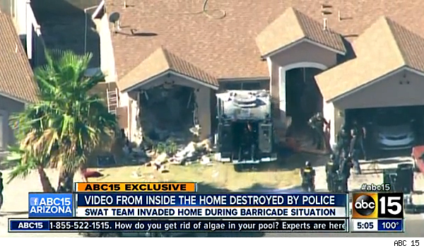 Phoenix home wrecked in hostage standoff
