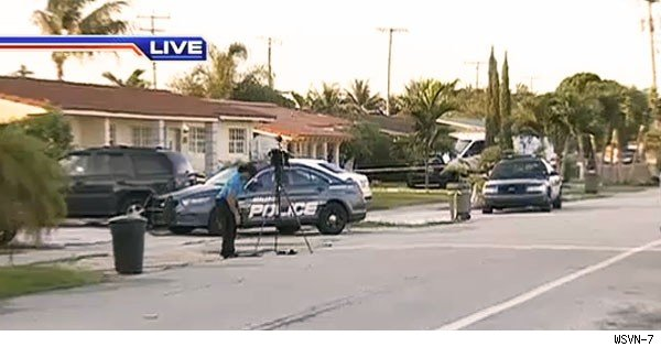 police cars at scene of landlord-tenant dispute in hialeah florida