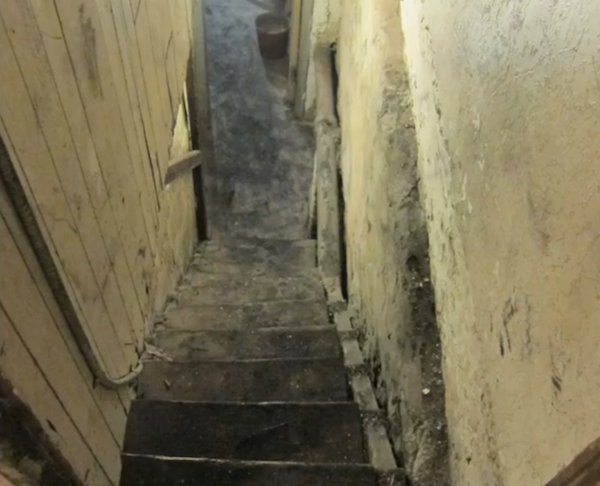 stairs to basement of Isenstadt and Sirota's apartment building