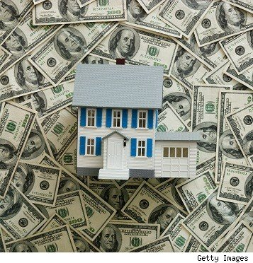 toy home on $100 bills
