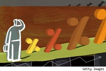 interest rate rise puzzles cartoon figure
