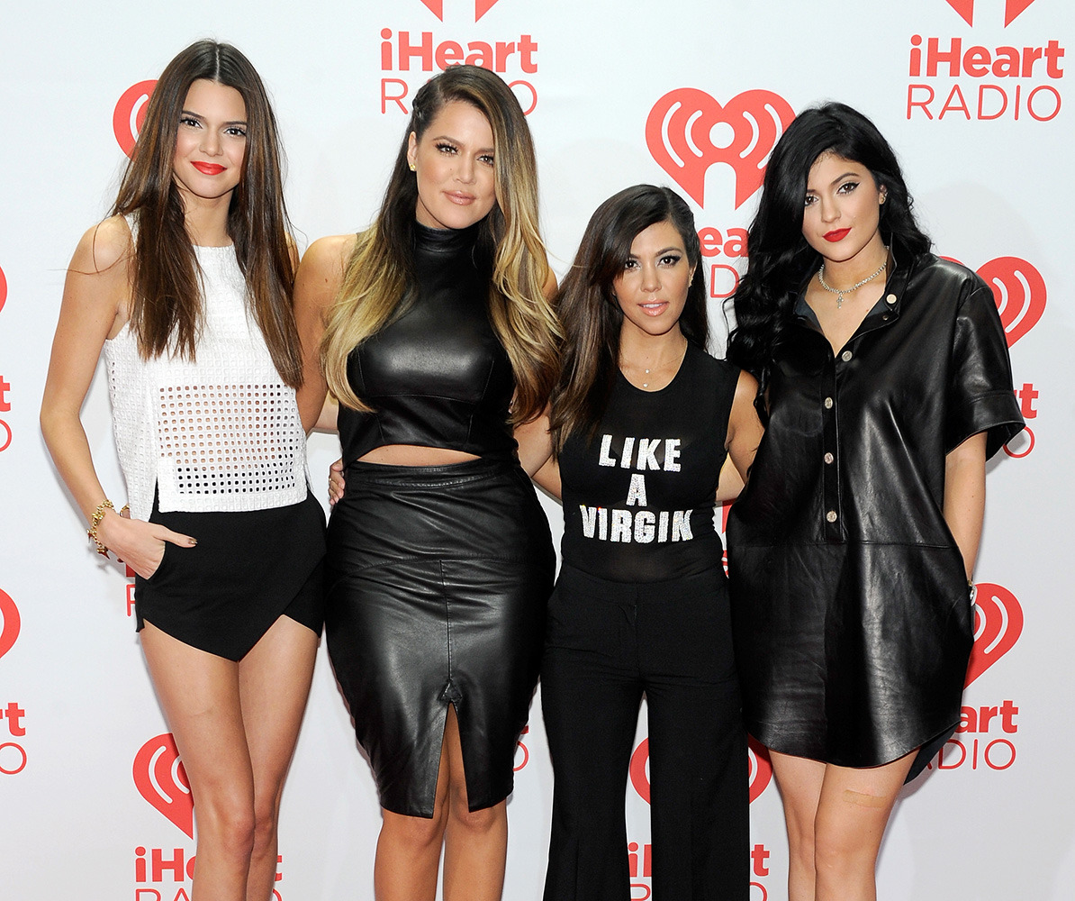 Kim, Kourtney and Khloe are all the same height in this