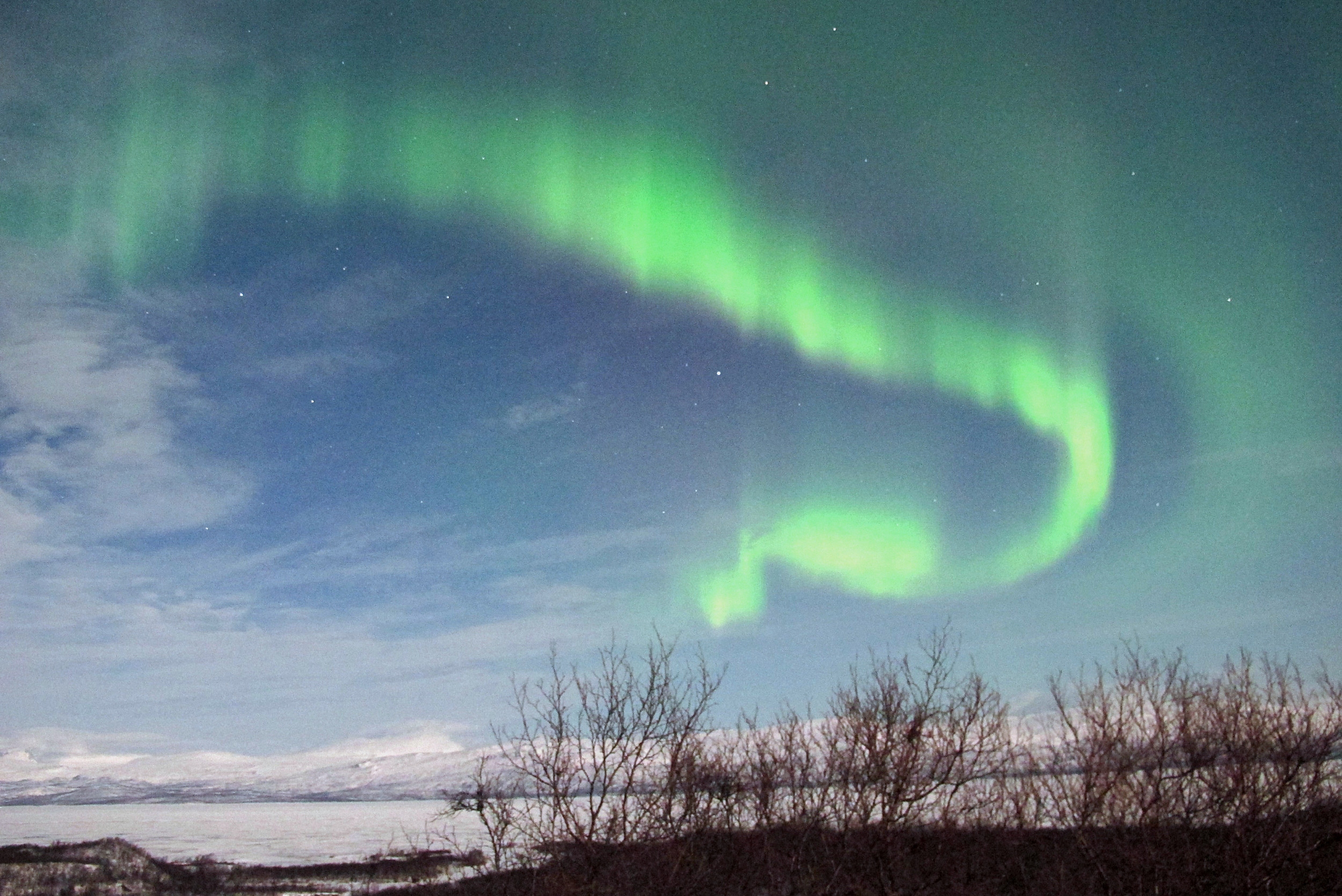 Breathtaking Northern Lights shone across the country ...